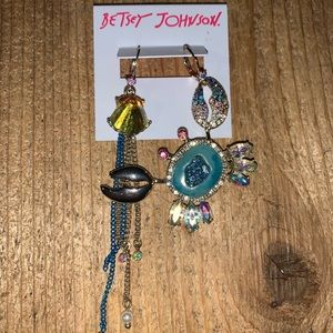Betsey Johnson ocean-themed dangling earrings